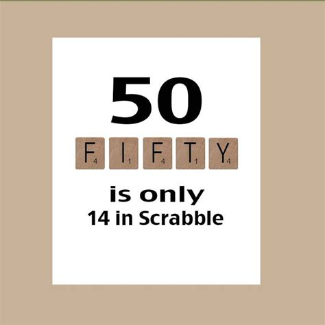 50 Birthday Meme - 50th birthday card milestone birthday scrabble birthday