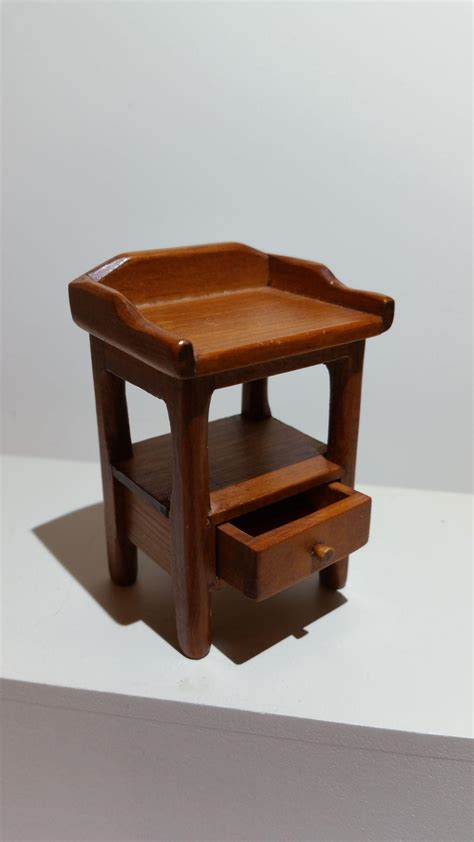 Marked Furniture by Dollhouse Furniture Marked Toncoss Side Table With Drawer