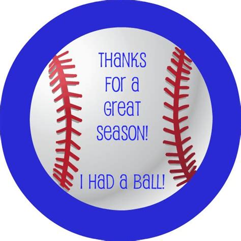 printable baseball tags lavender clouds free baseball thank you printable