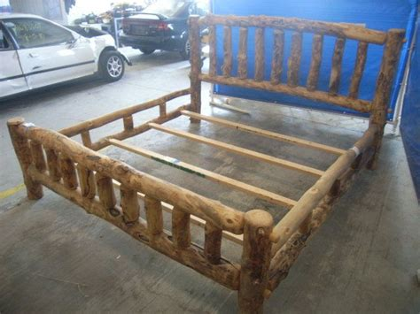 log bed frame 1000 images about diy woodworking log bed frame plans pdf