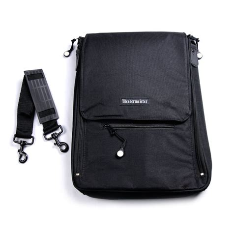 wusthof culinary school knife bag messermeister culinary messenger bag 6 pocket black
