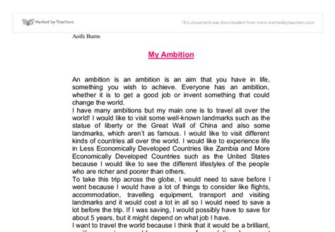 Ambition Essay by Essay On My Ambition Edu Essay