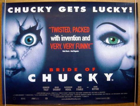 movie chucky title bride of chucky original cinema movie poster from