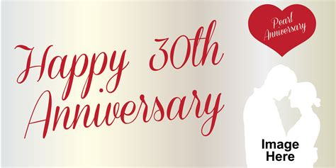Wedding Anniversary Banners by Anniversary Banner Pearl 30th