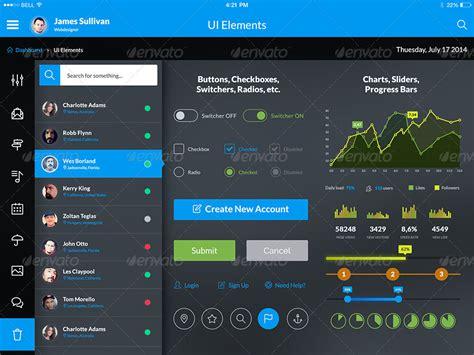 ipad ui pattern gallery otrion ipad tablet app design ui kit by