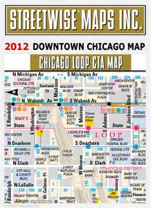 Street Map Of Downtown Chicago by Downtown Chicago Map 2014 Streetwise 174 Maps