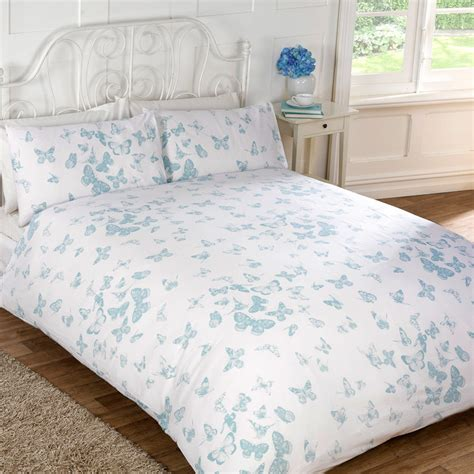 Duck Egg Bed Sets Vintage Butterfly Duvet Set Duvet Covers