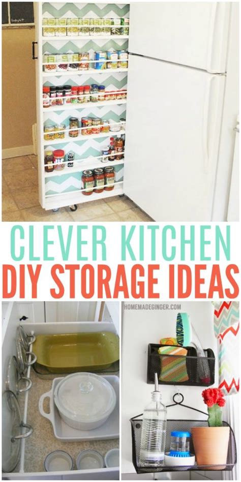 storage ideas for the kitchen clever diy storage ideas for the kitchen