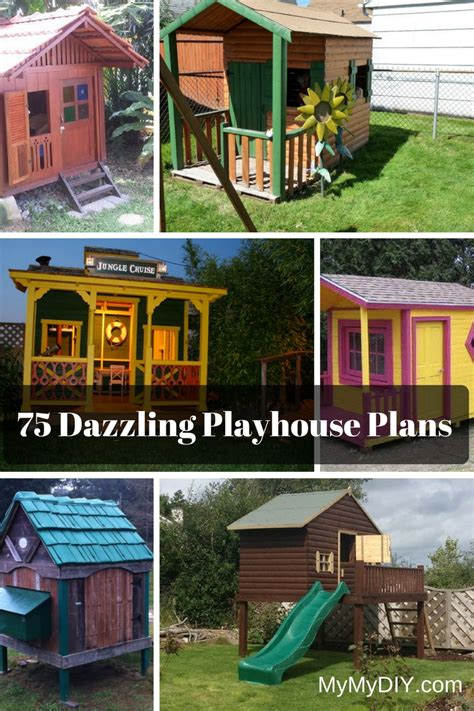 outdoor projects design 75 dazzling diy playhouse plans free mymydiy