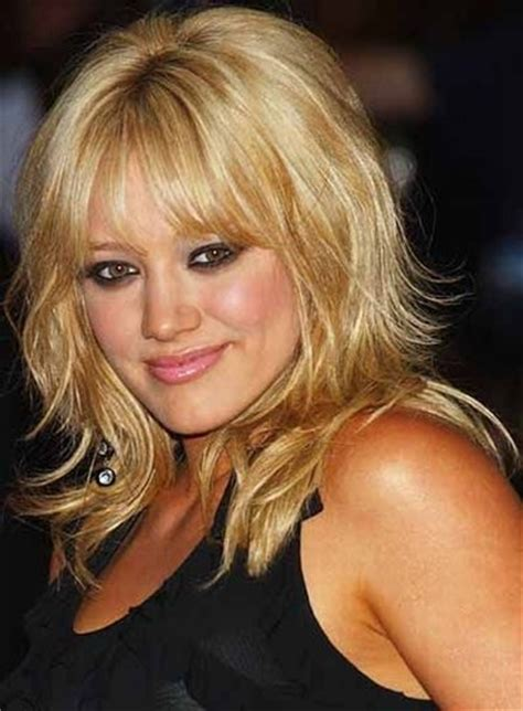medium hairstyles with bangs for who are overweight modele coiffure mi long d 233 grad 233 coiffure mi long 2016
