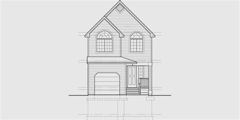 narrow lot house plan small lot house plan 20 wide house