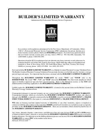 beazer home structural warranty home review