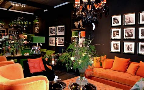 black and orange living room orange living rooms