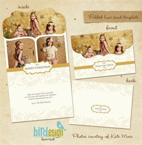 Magic Card Psd Template by Instant Folded Luxe Card Template