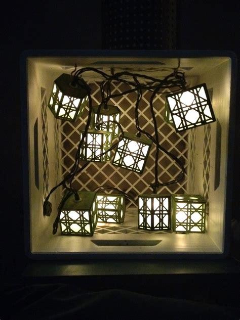 string lantern lights diy diy light crate with lantern string lights my