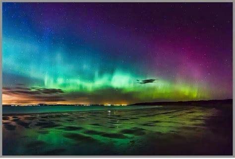 lights northern beaches gullane scotland northern lights nature