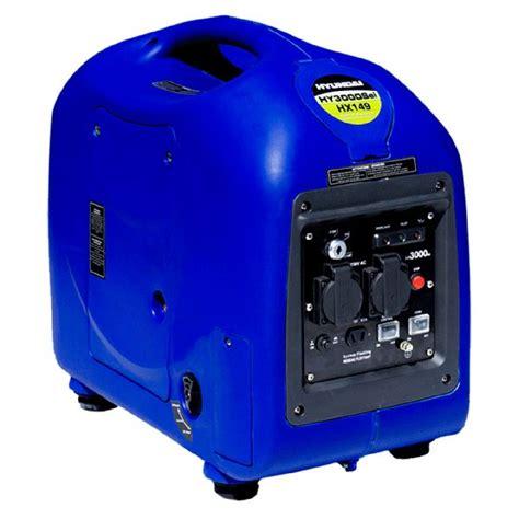 hyundai hysi lightweight kw kva portable petrol inverter generator  hz