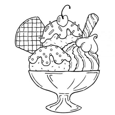 Coloring Page Ice Cream Sundae | ice cream coloring pages ice cream sundae coloring pages