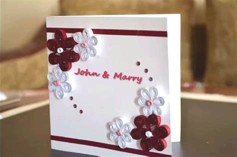 Paper Wedding Card by Paper Quilling Wedding Cards Www Pixshark Images