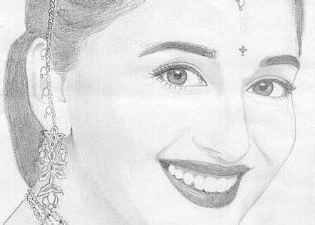 Sketches Of 8 by A Really Superb Madhuri Dixit Pencil Sketch Indian