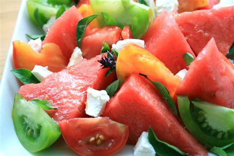 watermelon tomato salad a recipe watermelon tomato goats cheese salad with lemon truffle dressing london foodie in