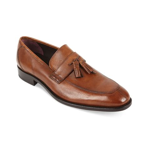 loafers with tassel lyst johnston murphy carlock tassel loafers in brown