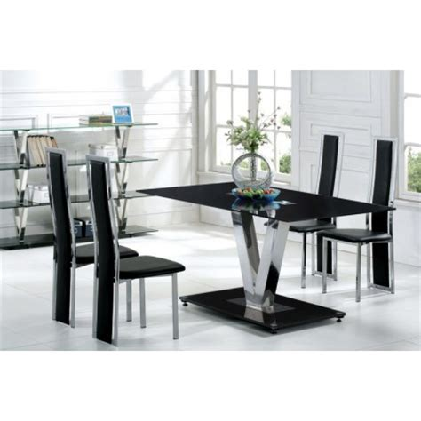 v glass dining table 6 d231 chairs