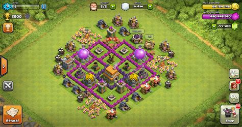 layout coc th 5 yang kuat design thropy base clash of clans th 6 design base clash