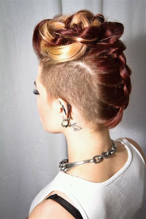 imitate half shaved look with braids glam wedding friendly styles for undercut hair half
