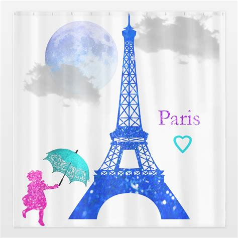 paris shower curtains paris shower curtain by haroulita on from boomboom prints