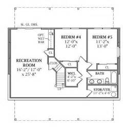 house plans basement lakeview 2804 3 bedrooms and 2 baths the house designers