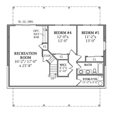 house plans with a basement lakeview 2804 3 bedrooms and 2 baths the house designers