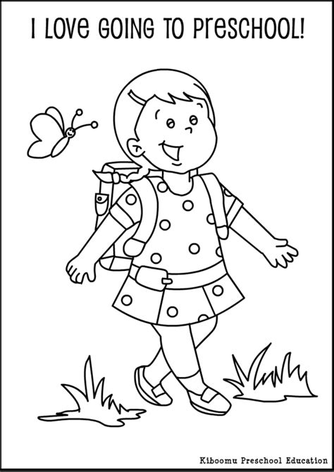 back to school coloring page kindergarten preschool coloring pages bestofcoloring com