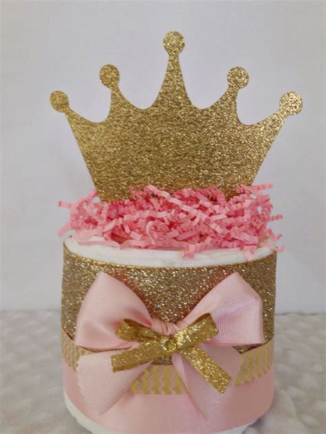 Cake For Baby Shower Centerpiece by Mini Princess Pink And Gold Cakes Princess Theme