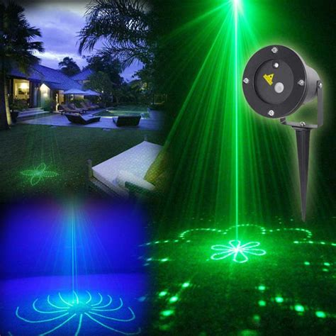 Outdoor Light Show Projector 20 Pattern Outdoor Led Laser Projector Show Green Laser Blue Led Waterproof Lawn L For Garden