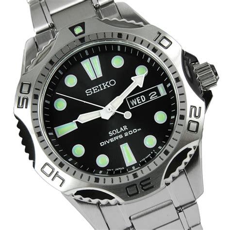 Seiko Solar Mens Scuba Divers Watch SNE107P1 SNE107