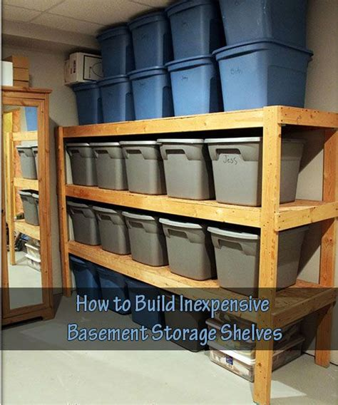 1000 ideas about basement storage shelves on