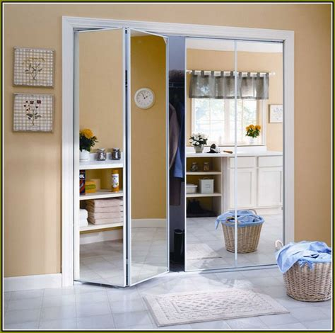 Bifold Mirrored Closet Doors Home Depot Closet Doors With Mirrors Home Depot Roselawnlutheran