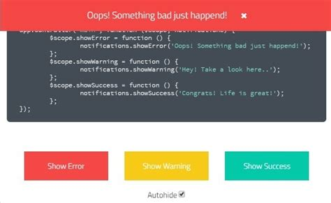 Top Bar Css by Stylish And Top Bar Notifications With Angularjs Angular Script