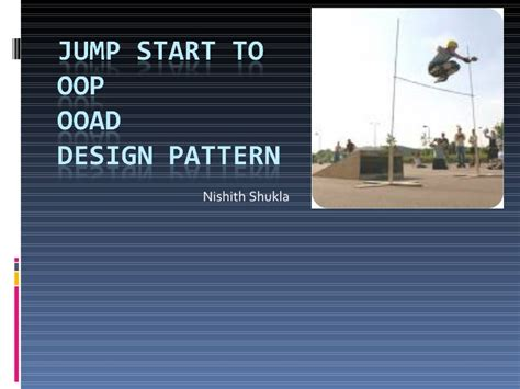 design pattern in ooad jump start to oop ooad and design pattern