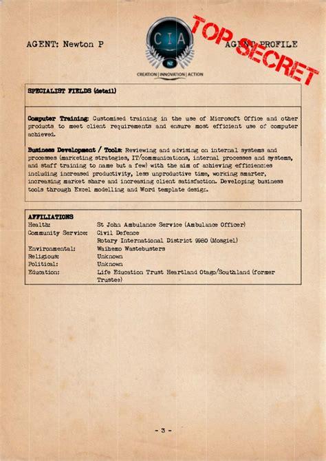 r i p profile secret and whisper cia agent profile peter newton