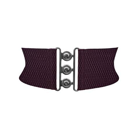 Belt Per Elastis 15 3 inches wide clasp cinch buckle elastic waspie waist belt