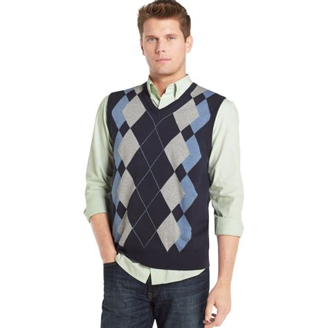 Sweater Vest Izod Argyle Sweater Vest In Multicolor For Midnight