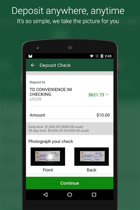 bank mobile deposit mobile banking with mobile deposit td bank