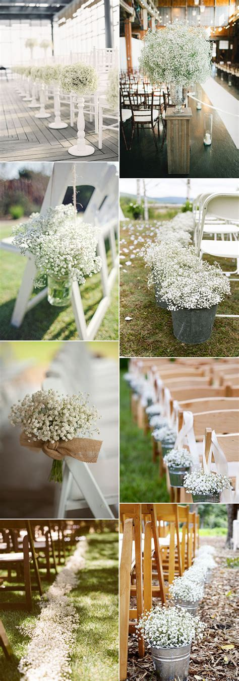 Baby S Breath Wedding Aisle by Wedding Flowers 40 Ideas To Use Baby S Breath