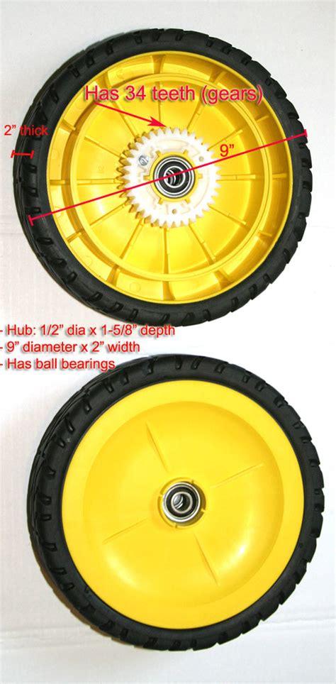 2 rear wheel for deere js25 js35 js36 js38 js45 js46