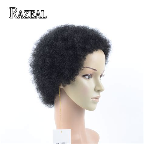is black pubic hair an afro 2017 razeal hair black synthetic wigs for black women