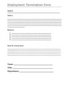 printable employment termination form free word s templates