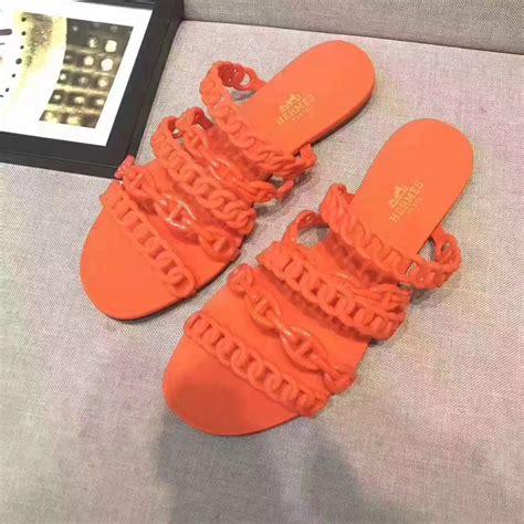 Hermes Jelly hermes jelly flat slippers orange size 35 41 119 00 replica