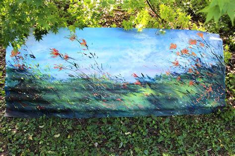 Garden Artworks Garden Painting On Corrugated Iron 171 Evantart